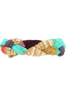 Missoni Mare Headband Com Trama - Dourado