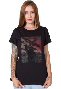 Camiseta Red Smoke Preto - Preto - Feminino - Algodã£O - Dafiti