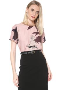 Camiseta Forum Floral Rosa/Vinho