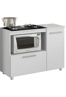 Balcão De Cozinha Anicuns Para Cooktop 2 Pt Branco