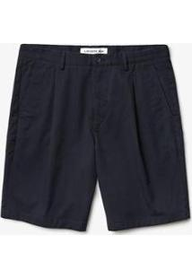 Bermuda Lacoste Regular Fit Masculina - Masculino-Azul Navy