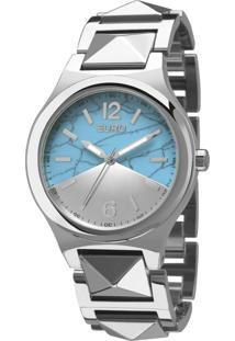 Kit Relógio Euro Analógico Feminino Aço Turquesa Prata - Eu2033Af/K3K Largura Da Caixa (Cm) 4,0
