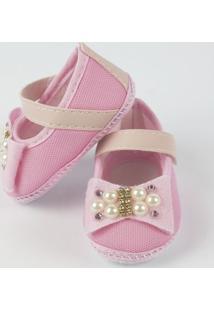 Sapato Nina Baby Com Laço E Pérola - Feminino