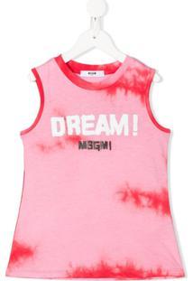 Msgm Kids Regata Tie Dye - Rosa