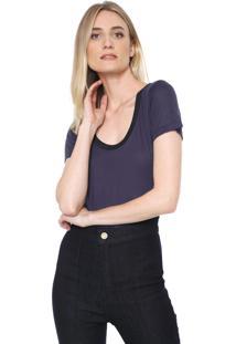Camiseta Forum Lisa Azul-Marinho