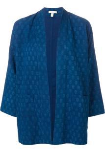 Eileen Fisher Printed Kimono Jacket - Azul