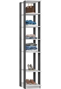 Closet Modulado C/ Prateleiras Clothes 410 – Be Mobiliários - Branco / Espresso