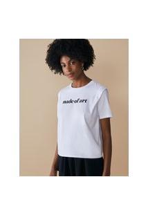 Amaro Feminino T-Shirt Made Of Art, Branco
