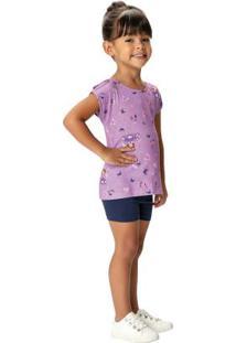 Conjunto Lilás Princesinha Sofia® Malwee Kids