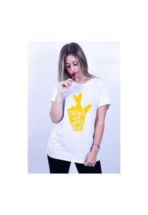 Camiseta Corte A Fio Bilhan Figa Gde Branca