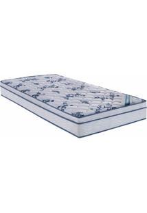 Colchao Comfort Pro Spring Solteiro 88 Cm (Larg) Branco E Azul - 43012 - Sun House