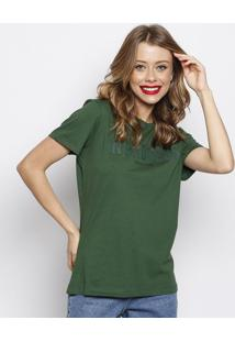 "Camiseta ""In Process""- Verde Escuro & Cinza Escuro- Forum"
