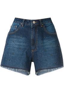 Eva Short Jeans Bordado Com Pedras - 330