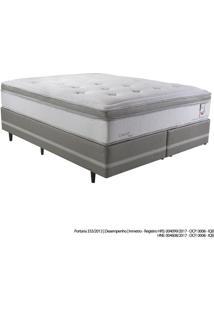 Cama Box Queen Herval Confort Master, 75X158X198 Cm, Molas Ensacadas