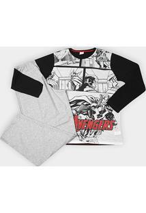 Pijama Infantil Evanilda Avengers Masculino - Masculino