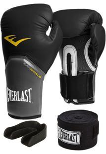 Luva Pro Style Elite Everlast 16 Oz + Bandagem 2,74M + Protetor - Unissex