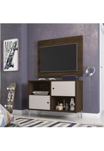 Rack Com Painel Para Tv Até 42 Polegadas London Siena Móveis