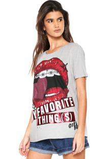 Camiseta My Favorite Thing(S) Estampada Cinza