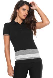 Camisa Polo Calvin Klein Jeans Listras Preta 7094a10e62caf