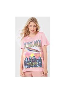 Camiseta Colcci Flyung Rock Rosa