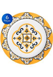 Cj De Pratos Para Sobremesa 6 Peças Floreal São Luis - Oxford