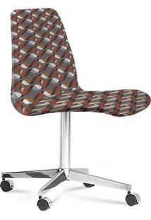 Cadeira Cromada Eames Loft Cinza