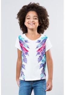 Camiseta Infantil Penas Laterais Reserva Mini Feminina - Feminino