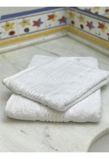 Jogo 2 Peças Toalhas De Banho E Rosto Prisma Af1387 - Branco