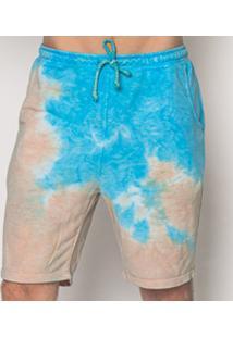 Bermuda Tie Dye Blue Emporio Alex Moletom Multicolorido - Multicolorido - Masculino - Dafiti