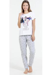 Pijama Feminino Manga Curto Liga Da Justiça