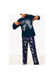 Pijama Malwee 1000077467 Infantil Azul Marinho