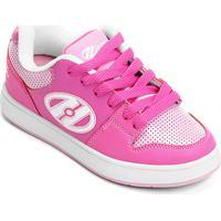 4c92e83245e43 Zattini. Tênis Heelys Cement Infantil Com Rodas Removíveis - Feminino-Rosa+ Branco