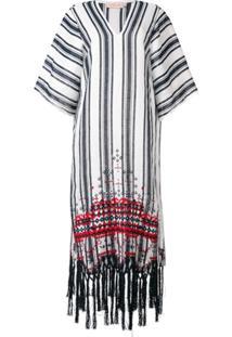 Tory Burch Striped Kaftan Dress - Azul