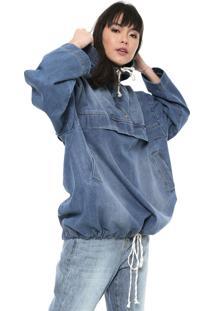 Jaqueta Jeans Colcci Capuz Azul