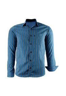 Camisa Amil Pequim Listrada Manga Longa Cor5 Lançamento