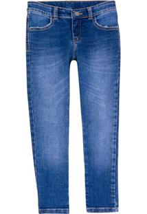 Calça Jeans Infantil Menino Reta