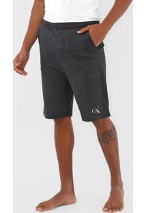 Bermuda Calvin Klein Underwear Reta Logo Grafite - Grafite - Masculino - Algodã£O - Dafiti