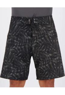 Bermuda Mash Start Out Estampada Masculina - Masculino-Preto