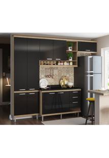 Cozinha Completa Iporá 9 Pt 3 Gv Argila E Preto