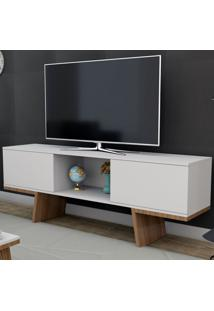 Rack Para Tv Até 55 Polegadas 2 Portas Branco/Castanho Rac3502 - Appunto