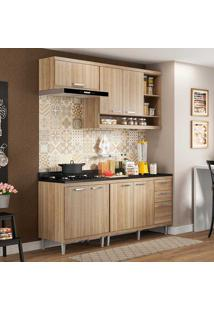 Cozinha Compacta Com Tampo 5 Peças 5811-S6T Sicília - Multimóveis - Argila Acetinado