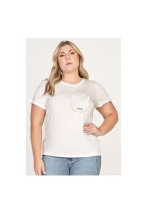 T-Shirt Bolso Com Babado