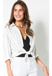 Camisa Tecido Plano Off White