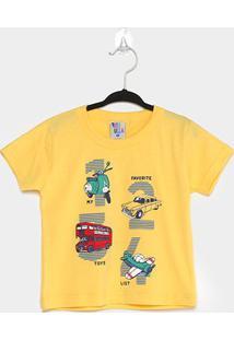 Camiseta Infantil Pulla Bulla My Favorite Toys List Masculina - Masculino