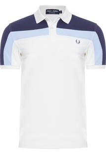 Polo Masculina Block Piquet - Off White 84816a96ac576
