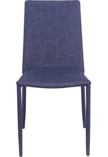 Cadeira De Jantar Glam Jeans Azul - Or Design