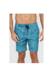 Bermuda Água Billabong Reta Surftrek Perf Tie Dye Azul
