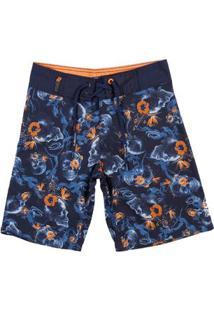 Bermuda Praia Gangster Juvenil Para Menino - Azul
