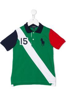 Ralph Lauren Kids Camisa Polo Com Logo Bordado - Green