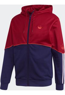 Blusão E Jaqueta Adidas Outline Fz Ft Bordô